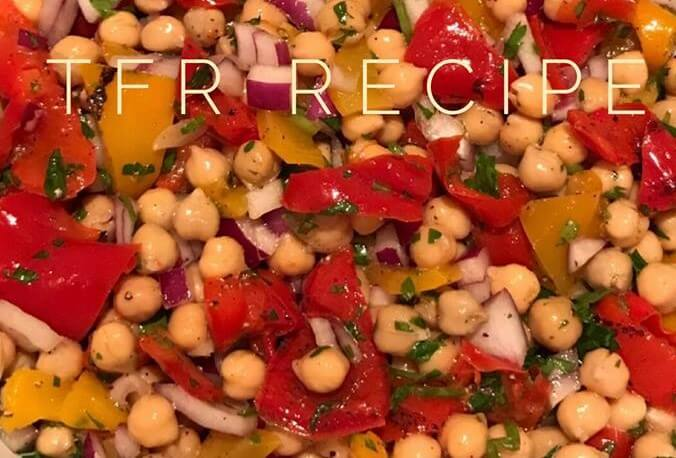 Veganuary recipe - chickpea & pepper salad - healthy eating