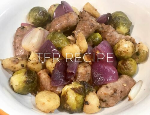 Baked Sausage, Gnocchi & Brussels Sprouts Recipe